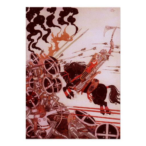 The Lad in the Battle by Kay Nielsen Poster