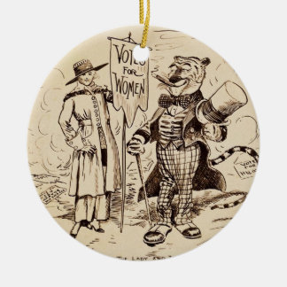 The Lady and the Tiger by Clifford K. Berryman Christmas Ornament