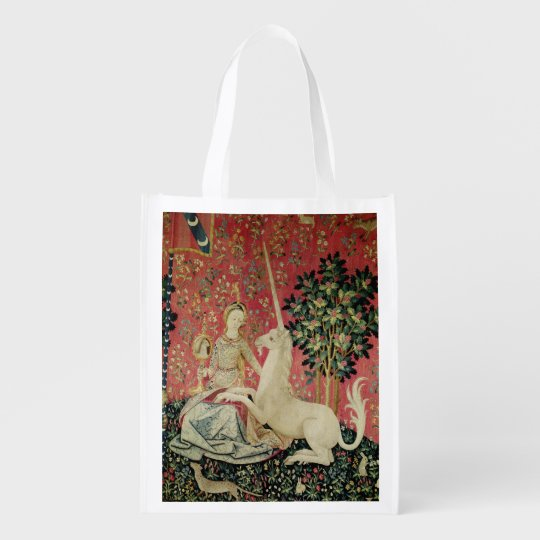 The Lady and the Unicorn: 'Sight' Reusable Grocery Bag