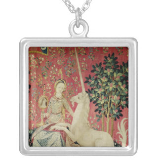 The Lady and the Unicorn: 'Sight' Silver Plated Necklace
