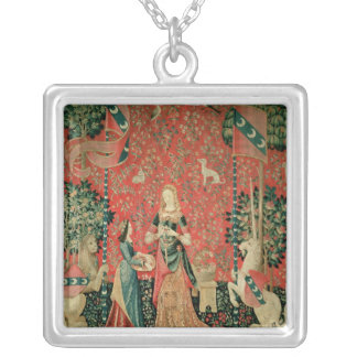 The Lady and the Unicorn: 'Smell' Silver Plated Necklace