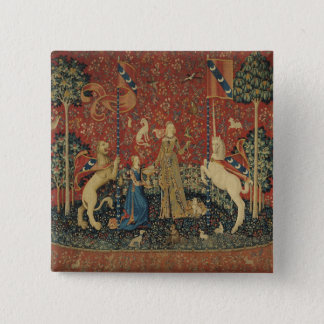The Lady and the Unicorn: 'Taste' 15 Cm Square Badge