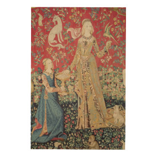 The Lady and the Unicorn: 'Taste' Wood Prints