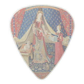 The Lady and the Unicorn: 'To my only desire' 2 Acetal Guitar Pick