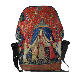 The Lady and the Unicorn: 'To my only desire' Courier Bags