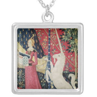 The Lady and the Unicorn: 'To my only desire' Silver Plated Necklace