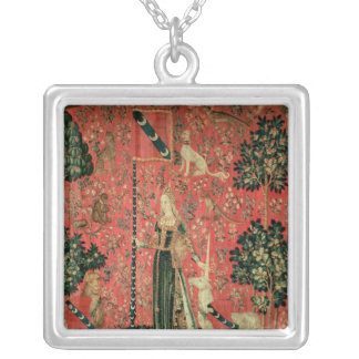 The Lady and the Unicorn: 'Touch' Silver Plated Necklace