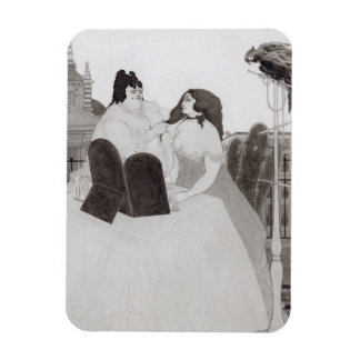 The Lady at the Dressing Table (ink and wash) Rectangular Photo Magnet
