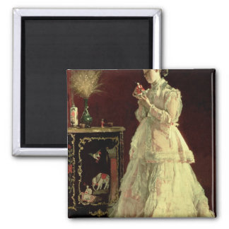 The Lady in Pink, 1867 Square Magnet