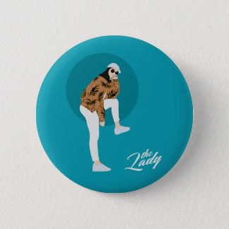 The Lady - Leaf 6 Cm Round Badge