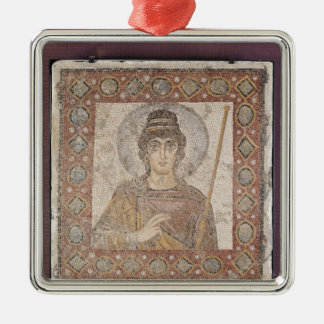 The Lady of Carthage Silver-Colored Square Decoration