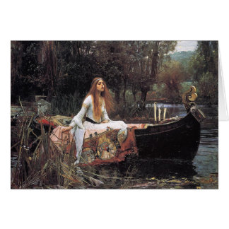 The Lady of Shalott by John W. Waterhouse Card