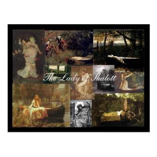 The Lady of Shalott Mosaic - Postcard