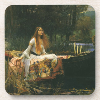 The Lady of Shalott On Boat by JW Waterhouse Coaster