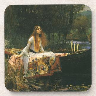 The Lady of Shalott On Boat by JW Waterhouse Coasters