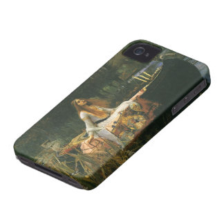 The Lady of Shalott On Boat by JW Waterhouse iPhone 4 Case