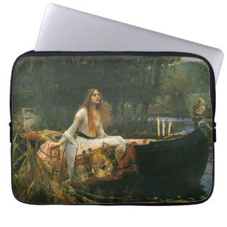 The Lady of Shalott On Boat by JW Waterhouse Laptop Sleeve