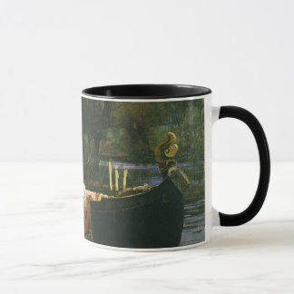 The Lady of Shalott On Boat by JW Waterhouse Mug
