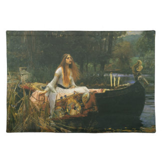 The Lady of Shalott On Boat by JW Waterhouse Placemat