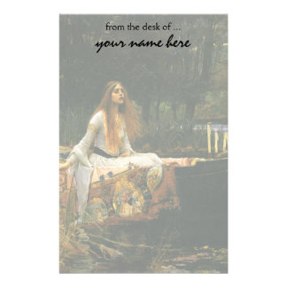 The Lady of Shalott On Boat by JW Waterhouse Stationery Paper