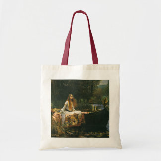 The Lady of Shalott On Boat by JW Waterhouse Tote Bag