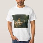 The Lady of Shalott On Boat by JW Waterhouse Tshirts
