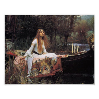 The lady of shalott painting poster
