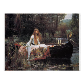 The Lady of Shalott Poster By John W. Waterhouse
