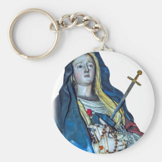 The Lady of Sorrows Basic Round Button Key Ring