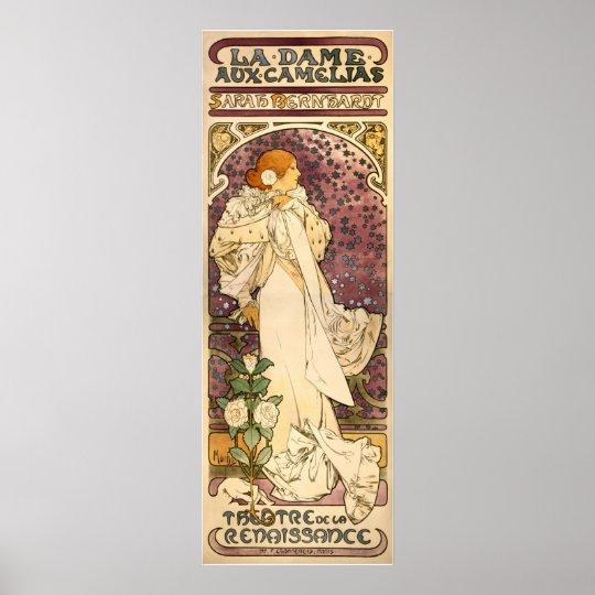 The Lady of the Camellias vintage Art Nouveau