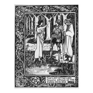 The Lady of the Lake telleth Arthur Postcard