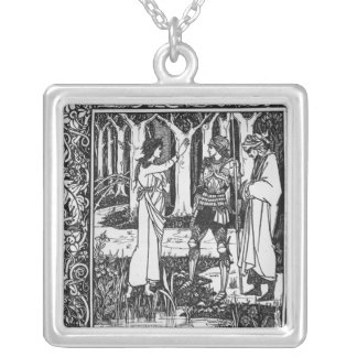 The Lady of the Lake telleth Arthur Silver Plated Necklace