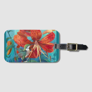 The Lady or The Tiger - Art by Kathy Morrow Luggage Tag