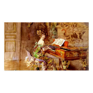 The Lady Pianist by Giovanni Boldini Pack Of Standard Business Cards