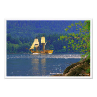 The Lady Washington in the Columbia River Gorge Photo Art