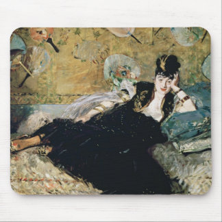 The Lady with Fans Mouse Pad
