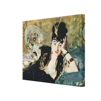 The Lady with Fans Stretched Canvas Print