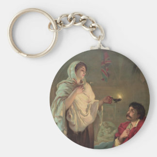 The Lady with the Lamp (Florence Nightingale) Basic Round Button Key Ring
