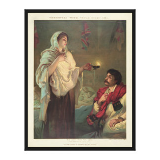 The Lady with the Lamp (Florence Nightingale) Canvas Prints