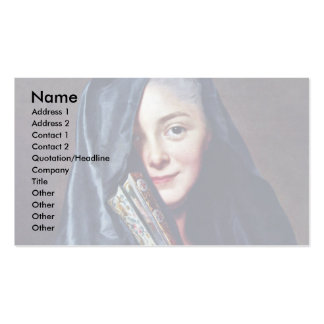 The Lady With The Veil The Artist S Wife Business Card