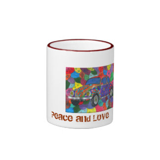 the-ladybird, Peace and Coils Ringer Mug