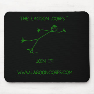 The Lagoon Corp Stick Figure Mouse Pad
