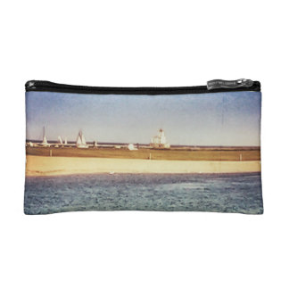 The lake fest boats lighthouse teepee clutch makeup bags