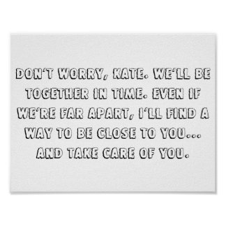 "The lake house quote 11"" x 8.5"" poster"