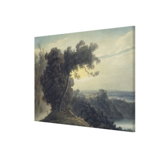 The Lake of Albano and Castle Gandolfo, c.1783-85 Canvas Print