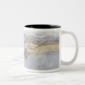 The Lake of Lucerne, Mount Pilatus in the Distance Two-Tone Coffee Mug