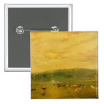 The Lake, Petworth: Sunset, Fighting Bucks 15 Cm Square Badge