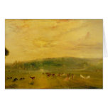 The Lake, Petworth: Sunset, Fighting Bucks Greeting Card
