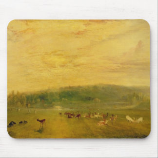The Lake, Petworth: Sunset, Fighting Bucks Mouse Pad