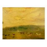The Lake, Petworth: Sunset, Fighting Bucks Postcard